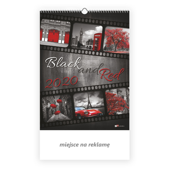 Kalendarz 13-planszowy - Black and red